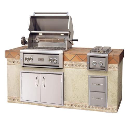 "LUXOR-30""-BUILT-IN-GRILL-ROTISSERIE built in grills, stainless steel warming rack series"