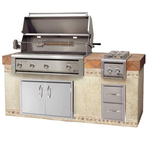 "LUXOR-36""-BUILT-IN-GRILL-ROTISSERIE built in grills, stainless steel warming rack series"
