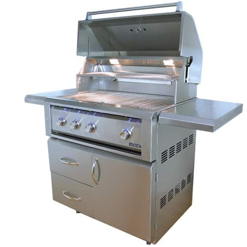 "LUXOR-36""-FREE-STANDING-GRILL--ROTISSERIE free standing series"