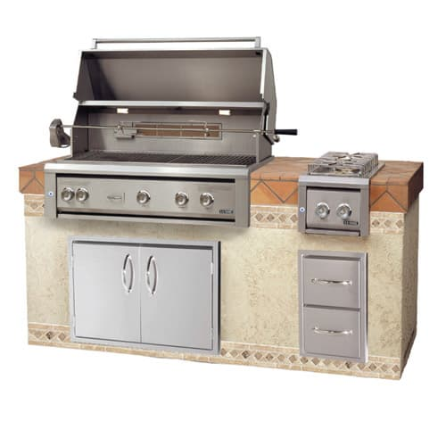 "LUXOR-42""-BUILT-IN-GRILL-ROTISSERIE built in grills, stainless steel warming rack series"