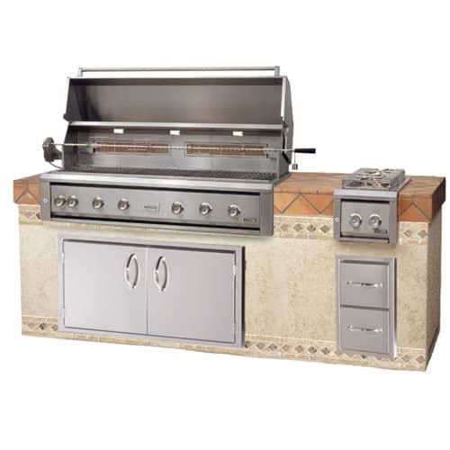 "LUXOR-54""-BUILT-IN-GRILL--ROTISSERIE built in grills, stainless steel warming rack series"